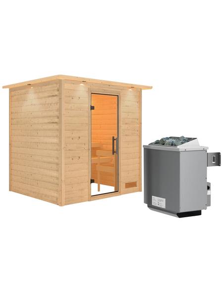 WOODFEELING Sauna »Anja« mit Ofen, integrierte Steuerung