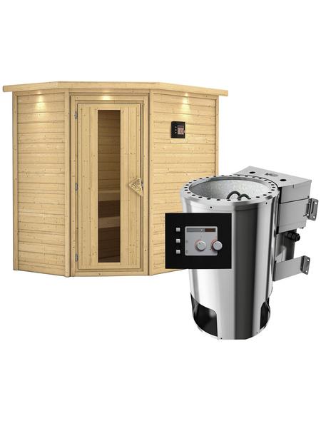 KARIBU Sauna »Baldohn« mit Ofen, externe Steuerung