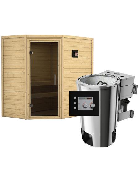 KARIBU Sauna »Baldohn«, mit Ofen, externe Steuerung