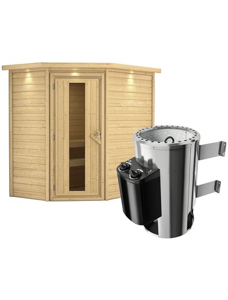 KARIBU Sauna »Baldohn«, mit Ofen, integrierte Steuerung