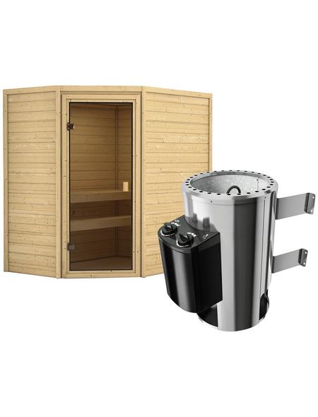 KARIBU Sauna »Baldohn« mit Ofen, integrierte Steuerung