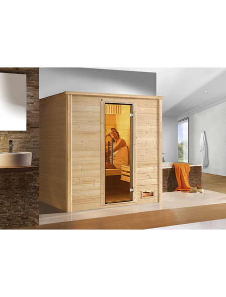 WEKA Sauna »Bergen 1«, für 2 Personen ohne Ofen
