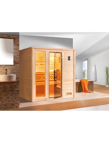 WEKA Sauna »Bergen 2«, für 3 Personen ohne Ofen