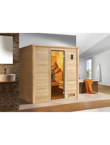 WEKA Sauna »Bergen«, inkl. 7.5 kW Saunaofen mit integrierter Steuerung für 2 Personen
