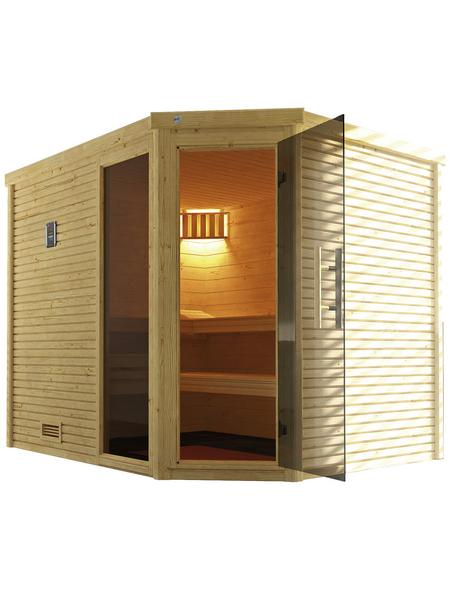 WEKA Sauna »Cubilis 3«, für 4 Personen ohne Ofen