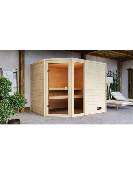 WOODFEELING Sauna »Fjella«, für 4 Personen ohne Ofen