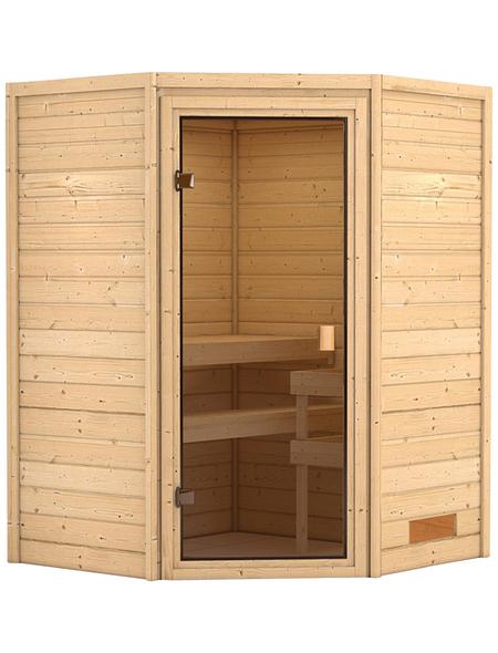 WOODFEELING Sauna »Franka«, BxTxH: 146 x 146 x 198 cm, ohne Saunaofen