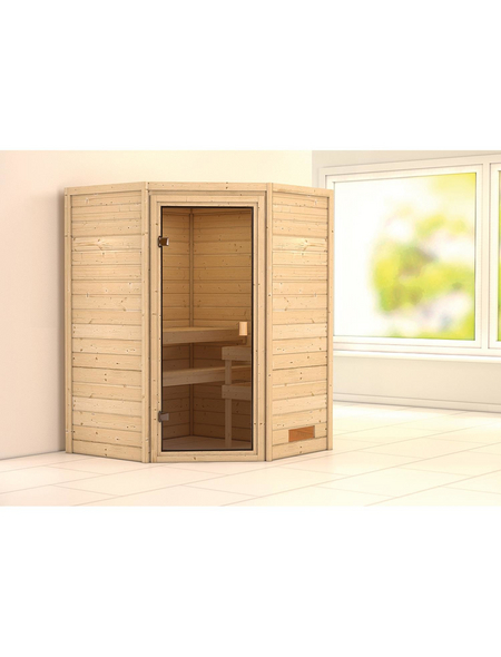WOODFEELING Sauna »Franka«, für 3 Personen ohne Ofen