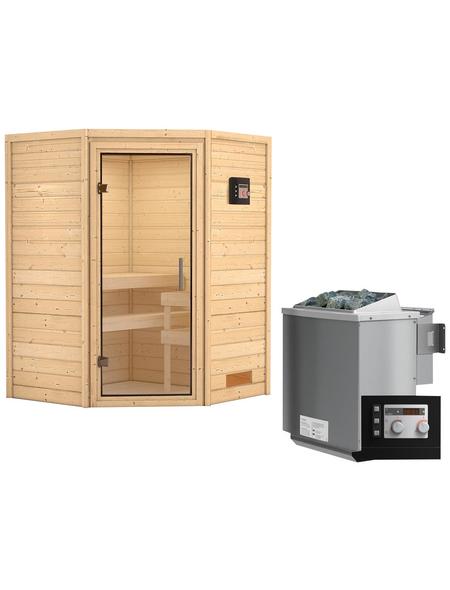 WOODFEELING Sauna »Franka«, mit Ofen, externe Steuerung