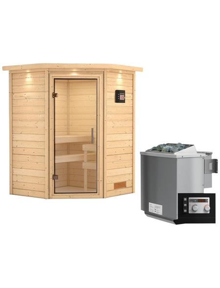 WOODFEELING Sauna »Franka« mit Ofen, externe Steuerung