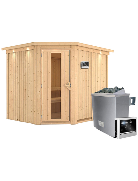 KARIBU Sauna »Haaspsalu«, mit Ofen, externe Steuerung