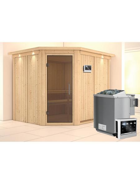 KARIBU Sauna »Haaspsalu« mit Ofen, externe Steuerung