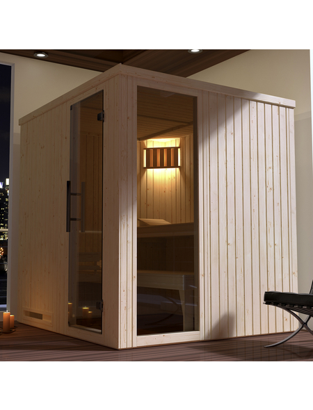 WEKA Sauna »Halmstad 2«, für 3 Personen ohne Ofen