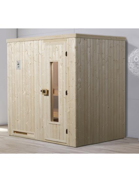 WEKA Sauna »Halmstad Gr.1«, BxTxH: 194 x 144 x 199 cm, ohne Saunaofen