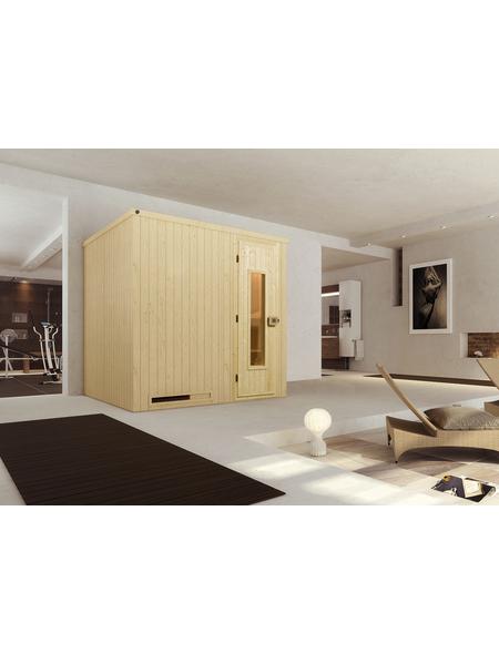 WEKA Sauna »Halmstad«, inkl. 5.4 kW Saunaofen mit integrierter Steuerung für 3 Personen