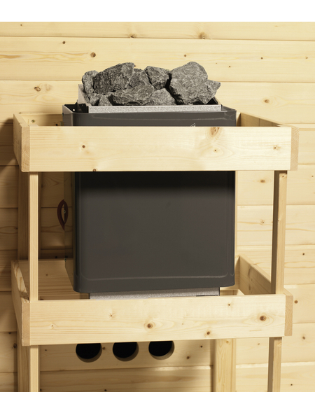 KARIBU Sauna »Jögeva«, mit Ofen, externe Steuerung