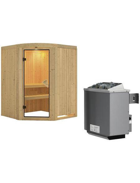 KARIBU Sauna »Jögeva«, mit Ofen, integrierte Steuerung