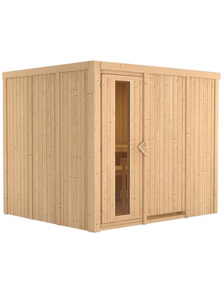 KARIBU Sauna »Jöhvi« für 4 Personen ohne Ofen