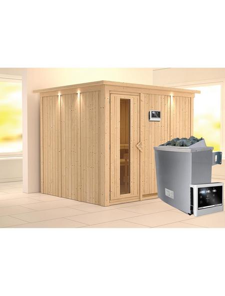 KARIBU Sauna »Jöhvi«, inkl. 9 kW Saunaofen mit externer Steuerung für 4 Personen