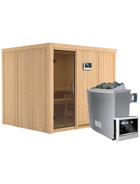 KARIBU Sauna »Jöhvi« mit Ofen, externe Steuerung