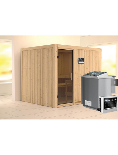 KARIBU Sauna »Jöhvi«, mit Ofen, externe Steuerung