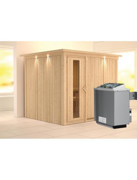 KARIBU Sauna »Jöhvi«, mit Ofen, integrierte Steuerung