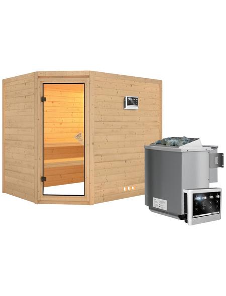 KARIBU Sauna »Kärdla«, mit Ofen, externe Steuerung