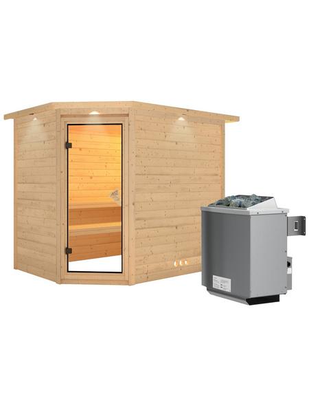 KARIBU Sauna »Kärdla«, mit Ofen, integrierte Steuerung
