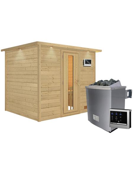 WOODFEELING Sauna »Karla« mit Ofen, externe Steuerung