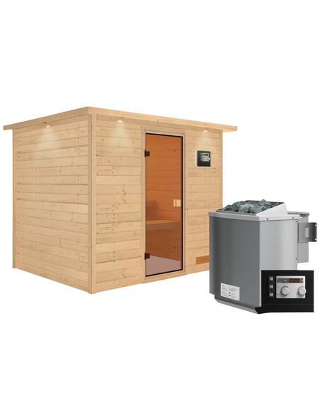 WOODFEELING Sauna »Karla«, mit Ofen, externe Steuerung