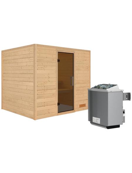 WOODFEELING Sauna »Karla«, mit Ofen, integrierte Steuerung