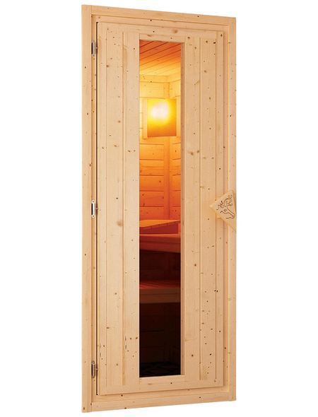 WOODFEELING Sauna »Karla« mit Ofen, integrierte Steuerung
