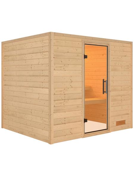 WOODFEELING Sauna »Karla«, ohne Ofen