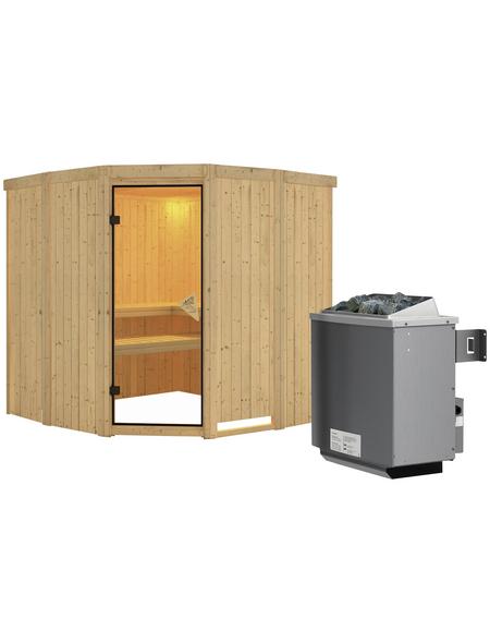 KARIBU Sauna »Keila 1« inkl. 9 kW Saunaofen mit integrierter Steuerung für 4 Personen