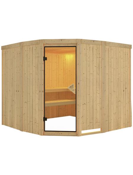 KARIBU Sauna »Keila 3«, BxTxH: 231 x 231 x 198 cm, ohne Saunaofen