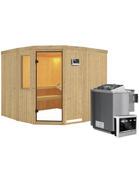 KARIBU Sauna »Keila 3« mit Ofen, externe Steuerung