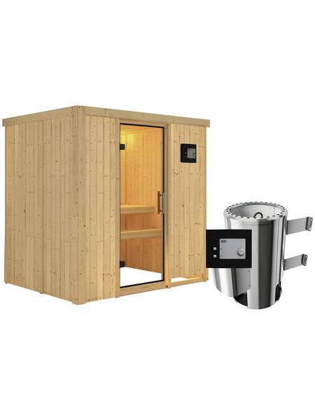KARIBU Sauna »Kircholm«, mit Ofen, externe Steuerung