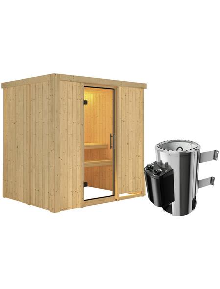 KARIBU Sauna »Kircholm« mit Ofen, integrierte Steuerung