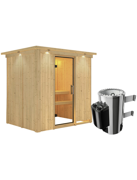 KARIBU Sauna »Kircholm«, mit Ofen, integrierte Steuerung