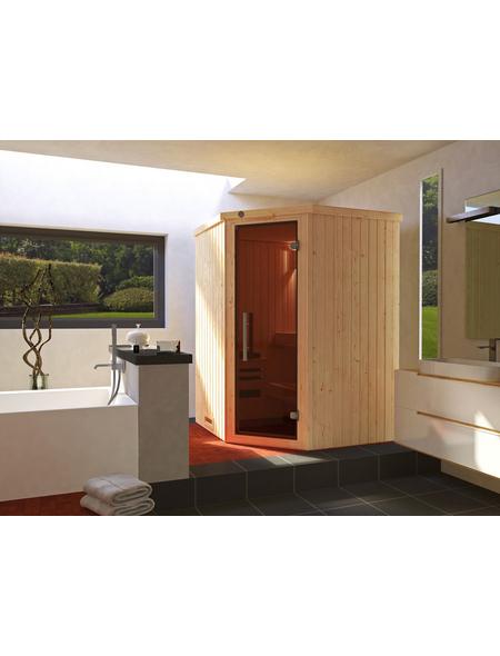 WEKA Sauna »KIRUNA 1«, inkl. 3.6 kW Plug&Play-Saunaofen mit integrierter Steuerung für 2 Personen