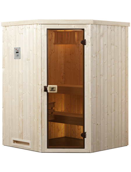 WEKA Sauna »Kiruna 1«, mit Ofen, externe Steuerung