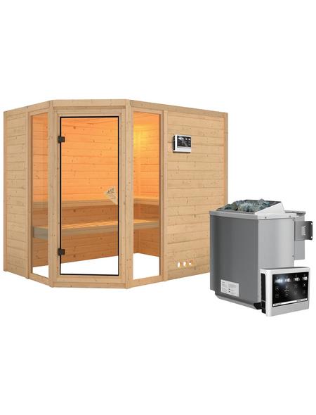 KARIBU Sauna »Kohila 3«, mit Ofen, externe Steuerung