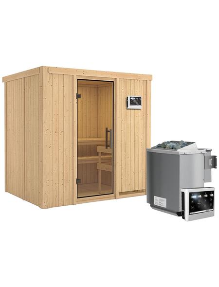 KARIBU Sauna »Kothla« mit Ofen, externe Steuerung