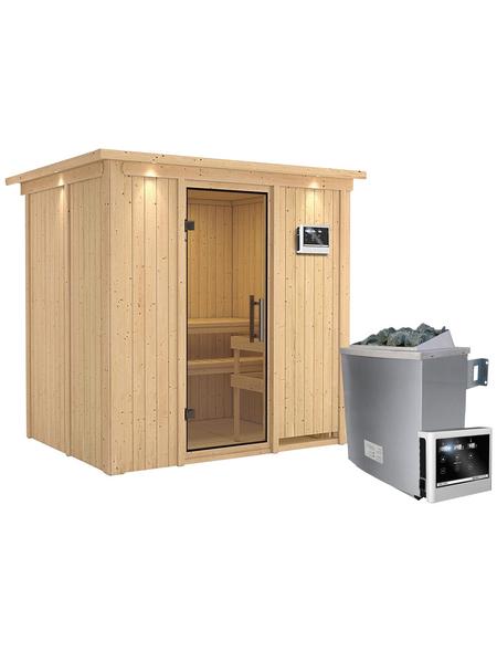 KARIBU Sauna »Kothla«, mit Ofen, externe Steuerung