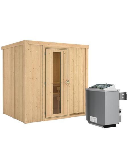KARIBU Sauna »Kothla«, mit Ofen, integrierte Steuerung