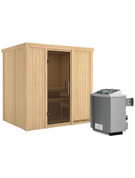 KARIBU Sauna »Kothla« mit Ofen, integrierte Steuerung