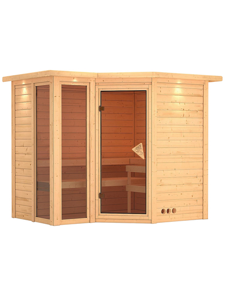 KARIBU Sauna »Kunda«, BxTxH: 264 x 198 x 212 cm, ohne Saunaofen