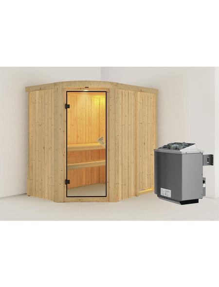 KARIBU Sauna »Lavea«, mit Ofen, integrierte Steuerung