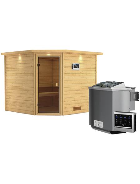 WOODFEELING Sauna »Leona« mit Ofen, externe Steuerung