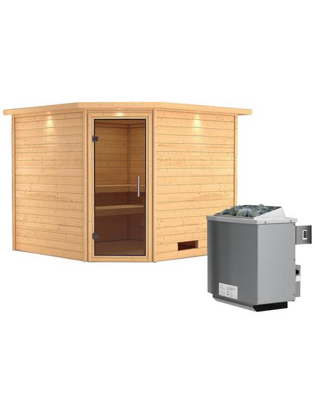 WOODFEELING Sauna »Leona« mit Ofen, integrierte Steuerung